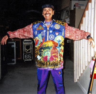 Carlos Santana Wearing Original Michael V. Rios Jacket