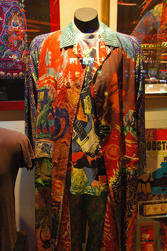 A Hand Made Original Michael Rios Suit for Carlos Santana(Photograph from Hard Rock Cafe in Las Vegas)