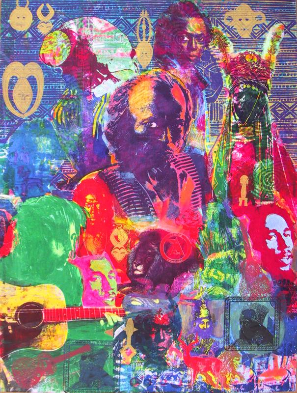 Miles and young bob marley the art of michael v rios for Bob marley mural san francisco