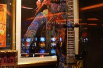 Santana Live Wearing Michael Rios Suit (Photograph from Hard Rock Cafe in Las Vegas)